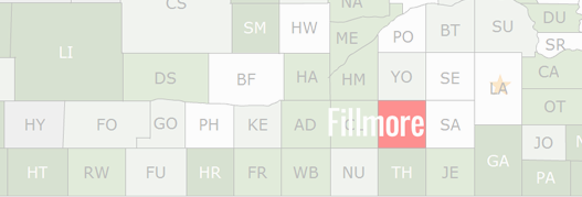 Fillmore County Map