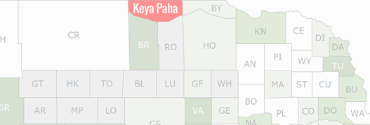 Keya Paha County Map